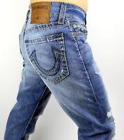 True Religion $349 Men's Geno Slim Super T Worn Riff Jeans - MDAJ19N24H