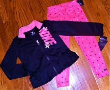 NIKE AUTHENTIC TODDLERS GIRLS 2Pc SET ORIGINAL BRAND NEW SPORT SUIT Size 6X, NWT