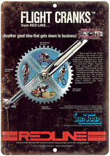 "SunTour Cranks Red Line Flight Bmx 10""x7"" Metal Sign Reproduction B185"
