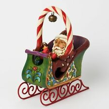 5-Pc Jim Shore JINGLE ALL THE WAY Heartwood Creek Sleigh 2012 Christmas Ornament