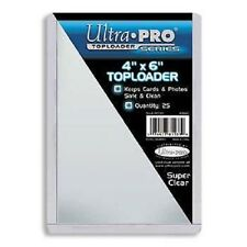 (2) ULTRA PRO CARD PROTECTORS 4 x 6 Top Loader 4x6 Toploaders Top Load Holders