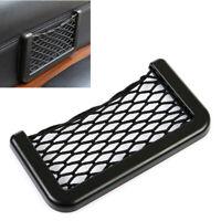 1x Black Car Interior Body Edge Elastic Net Storage Phone Holder Accessories