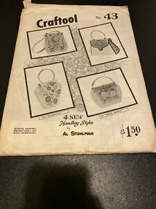 Vintage Leather Craftool Pattern No. 43 By Al Stohlman Handbag Styles