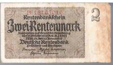 GERMANY BANKNOTE 2 P174b 1937 VF -1/3 TYPES THIS PICK - Deutsche Rentenbank