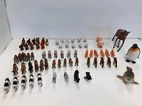 Lot of 70 Assortment of toy animals zoo farm jungle ocean sea plastic figures