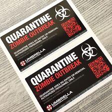 2pcs Umbrella Corporation Quarantine Resident Evil Vinyl Decal Sticker