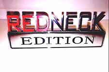 1000% REDNECK EDITION EMBLEM car TRUCK boat DECAL logo SIGN RED NECK *new*