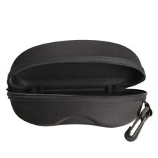 Zipper Eye Glasses Sunglasses Hard Case Box Portable Protector Black