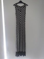 BNWOT French Connection Black/White Summer Stripe Stretch Maxi  Size: 8