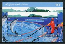 Faroes Faroe Islands 2010 MNH Life at Coast 2v M/S Fish Fishing Industry Stamps