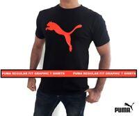 Puma T-Shirts Mens Short Sleeve Crew Neck Graphic Tee S M L XL