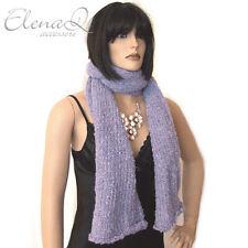 Sciarpa donna a maglia in alpaca a maglia LILLA viola