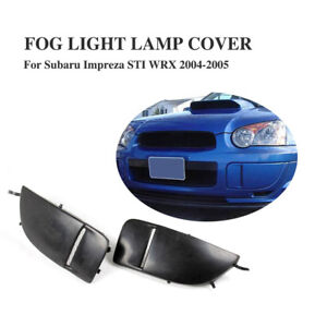Front Bumper Cover Cap Fog Light Lamp Covers For Subaru Impreza WRX STI 04-2005