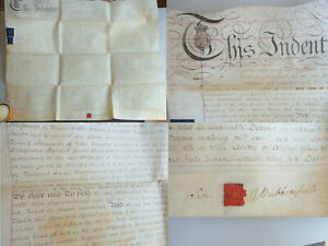 Pergament-Urkunde (English Parchment) 1785: Promises IN Boxley (Kent)