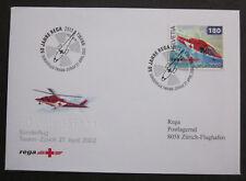 Medizin Rettungswesen Rot Kreuz Hubschrauber Schweiz 2002 FDC