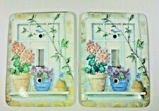 Garden Flower Light Single Switchplates