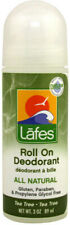 Roll On Deodorant Tea Tree, Lafes Natural Body Care, 3 oz