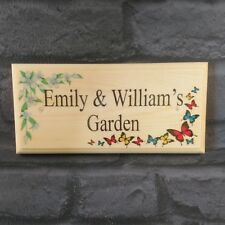 Personalised Garden Sign, Flowers Butterflies House Shed Nanny Grandad Gift Home