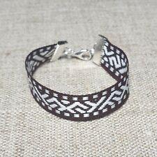Bracelet folk wristband with Latvian traditional ethnographic New Jumis symbol