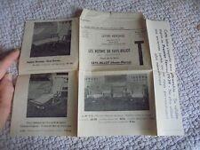 Lettre commerciale les Rotins de Fayl Billot  Ancien Fauteuil Chaise Longue 1938