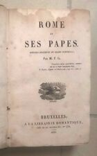 ROME ET SES PAPES HISTOIRE SUCCINTE DU GRAND PONTIFICAT 1829