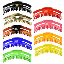 5,5 inch Jaw Clip Long Scalloped Hair Claw Women Girls Colorful Hair Accessory