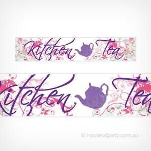 Kitchen Tea Party Banner Wedding Decoration Bridal Shower Hanging Decoration