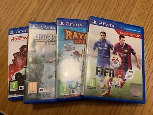 Ps Vita Games Bundle x 4 - FIFA15, Rayman, Uncharted, Most Wanted. All boxed