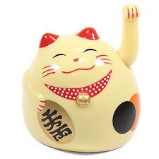 Small Gold Beckoning Fortune Happy Cat Maneki Neko Toy Home Decor Business Gift