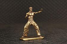 Kungfu bronze hand cast statue figure collect tea pet netsuke decoration Art