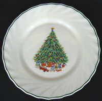 SALEM CHINA PORCELLE NOEL DINNER PLATE(S) CHRISTMAS TREE