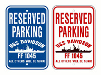 USS VINCENNES CG 49 Parking Sign U S Navy USN Military