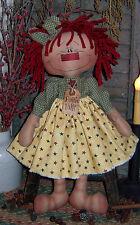 Primitive Raggedy Rattie Patti Ann Doll Paper Pattern #224