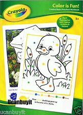 Crayola COLOR IS FUN! Preschool Workbook with Reward Stickers Ages 3+ Grade PreK