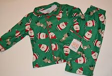 2 Piece Santa Clause & Reindeer Christmas Pajamas Sleepwear Set 12 Months Carter