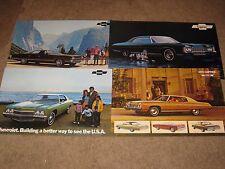 1971-72-73 Chevrolet Dealer Sales-Showroom Brochure Lot Impala, Caprice, Belair
