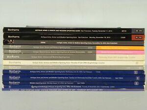 13  Bonhams Auction Catalogs FINE ANTIQUE ARMS AND ARMOUR & MODERN SPORTING ARMS