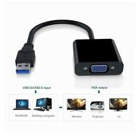 USB 2.0/3.0 to VGA Multi-display Adapter Converter External Video Graphic Card