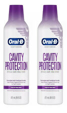(2) Bottles Oral-B Cavity Protection Special Care Oral Rinse Fortifying Mint