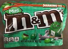 M&M's Mint Dark Chocolate Candy 9.60 oz 272.2 g New Resealable Zipper Pouch
