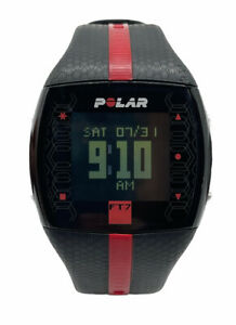 Polar FT7 CR1632 Black and Red Digital Heart Rate Monitor/Watch Only No Strap