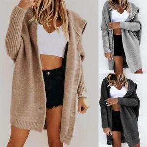 Fashion Women Cardigan Loose Batwing Sleeve Sweaters  Loose Hooded Sweater