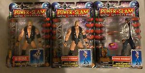 3 WCW Power Slam Figures Dennis Rodman Green Hair & Sid Vicious & Error Variant