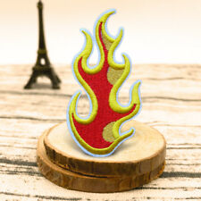 DIY Rock Flames Fire Embroidery Sew On Iron On Patch Badge Fabric Applique Craft