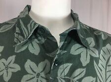 Cherokee Aloha Hawaiian 100% Cotton Short Sleeved Camp Shirt Floral Large L