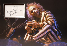 MICHAEL KEATON Signed 14X10 Photo Display BEETLEJUICE COA