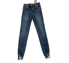 LAULIA dunkelblaue Schredder Jeans Hose Slim 40 Risse Fetzen Denim NEU #101