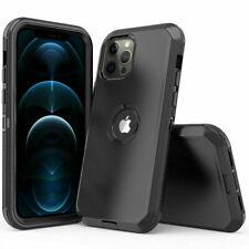 Para iPhone 11/12/12 Pro Max Híbrido a Prueba De Golpes Armadura Funda Cubierta + Protector de pantalla