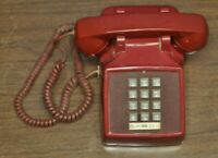 Vintage Western Electric 2500 DM Touch Tone Bell Telephone ~ COLOR IS RED