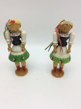 Vintage wood polish dolls   lot of two X